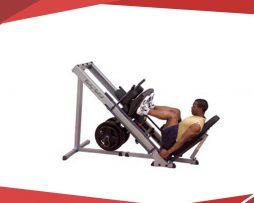 prensa de 45° para pierna con doble función sentadilla hack body solid glph1100