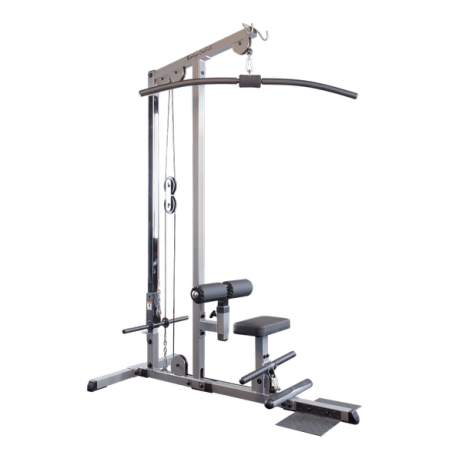 maquina fitness aparato equipo lat bar polea alta body solid GLM83
