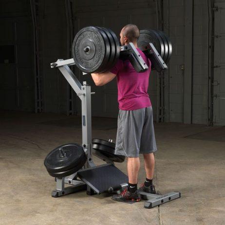 maquina fitness para sentadilla y pantorilla parado gscl360