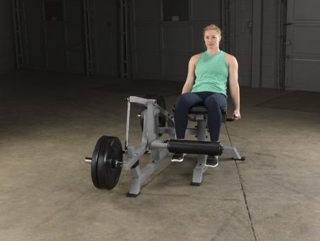 maquina fitness aparato para gimnasio de extensiones de pierna con apalancamiento body solid lvle
