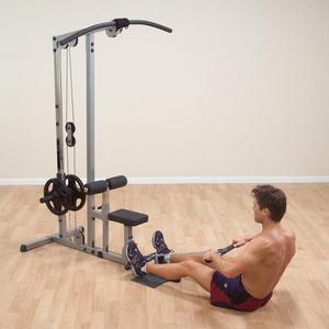Aparato para espalda y remo body solid mexico for Poleas para gimnasio