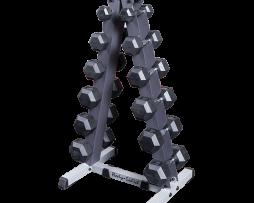 Rack GDR44 con 6 pares de mancuernas