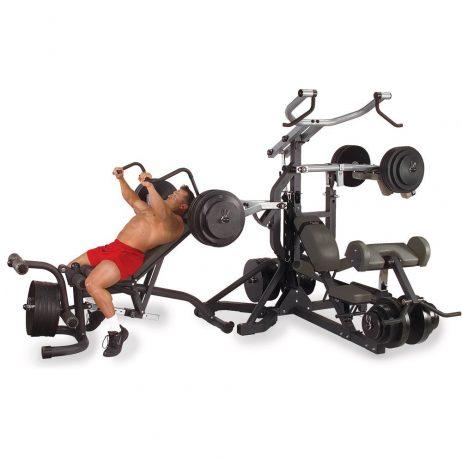 maquina fitness gimnasio multiestaciones con aplanacamiento body solid sbl460p4
