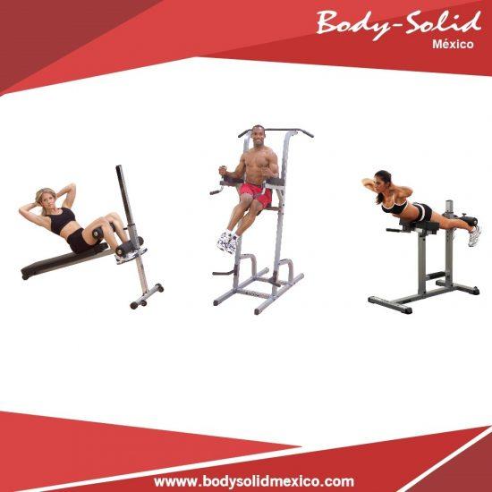 paquete gimnasio abdominales y espalda baja body solid