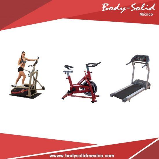 paquete gimnasio cardio caminadoar elitica y spinning body solid