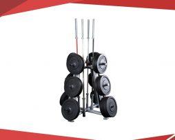 rack comercial para discos olimpicos y barras olimpicas