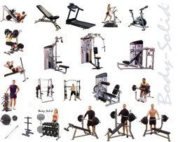 paquete gimnasio cardio peso libre peso integrado body solid